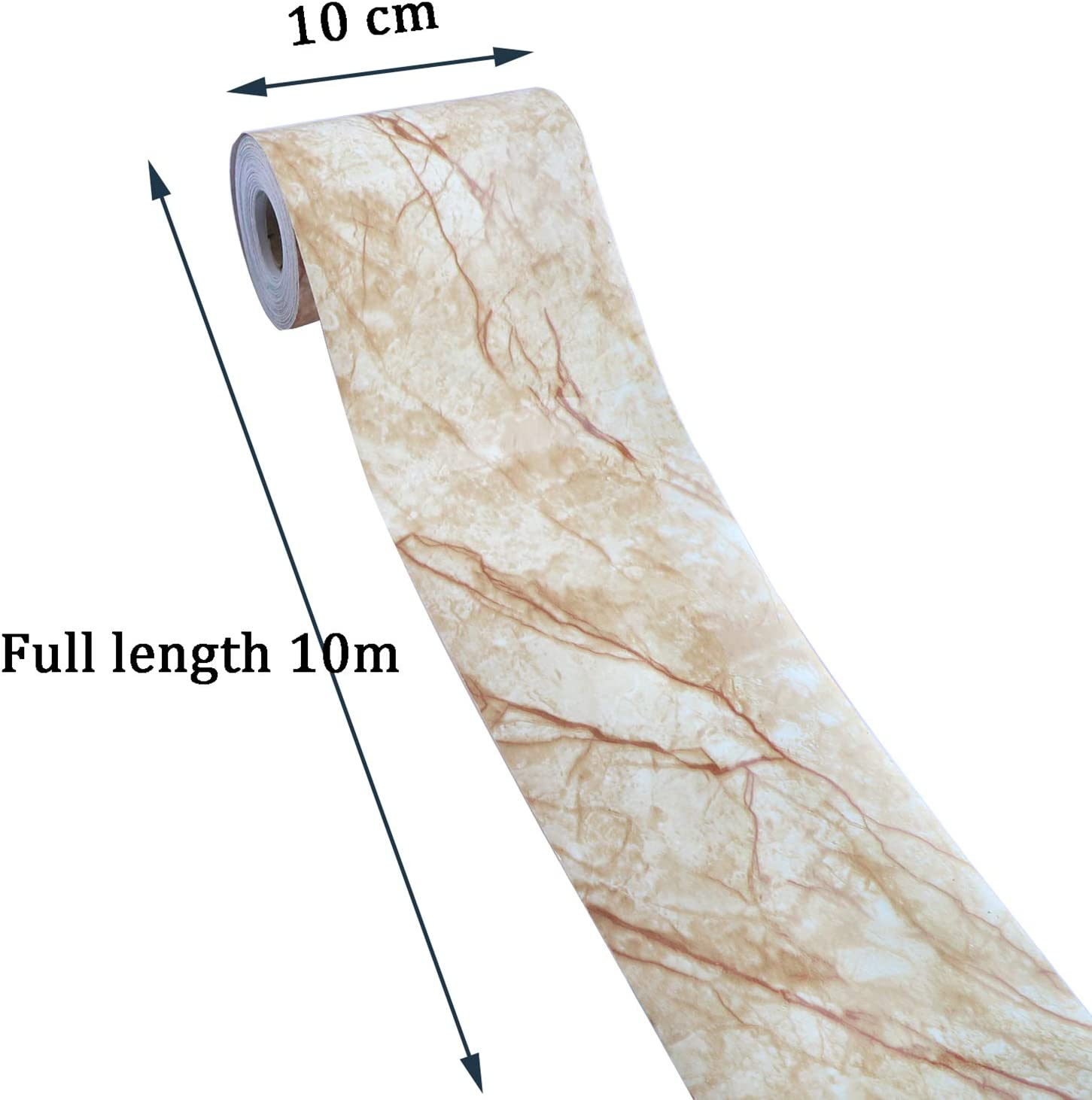 Uoisaiko Marble Wallpaper Borders Self Adhesive Wall Borders Peel And Stick Border For Wall Covering Borders