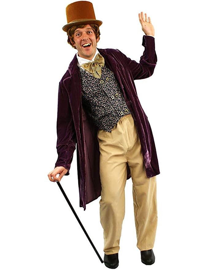 Victorian Men's Costumes: Mad Hatter, Rhet Butler, Willy Wonka Adult Chocolate Man Costume $77.99 AT vintagedancer.com