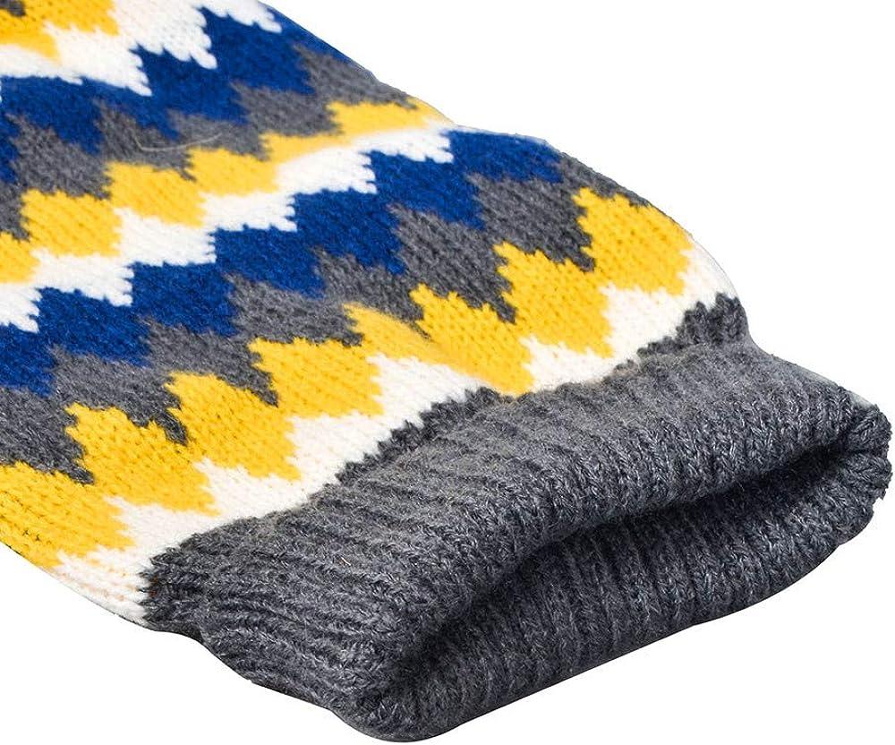 Geometrisches Druckpullover Mantel Kost/üm Keepwin Haustier-Hundekatze-Winter Warme Rollkragen Strickjacke