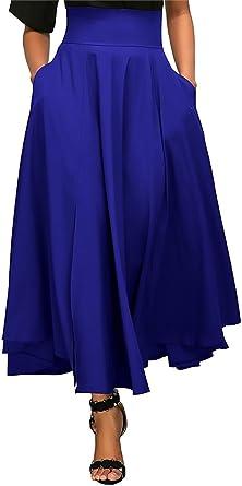 Mujer Faldas Largas Fiesta Coctel Vintage Elegantes Cintura Alta ...