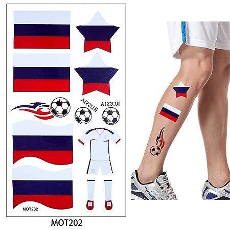 adgkitb Juegos de fútbol 4pcs Tatuaje Pegatina Bandera Alemania ...