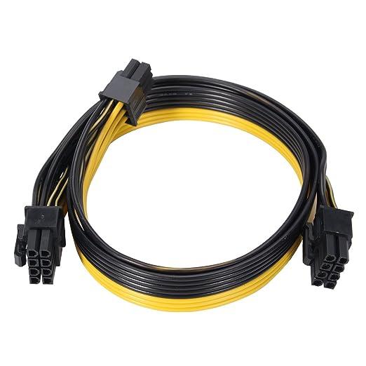 Tutoy 20 Cm Pci-E 6 Pines A 8 Pines Cables De Alimentación ...