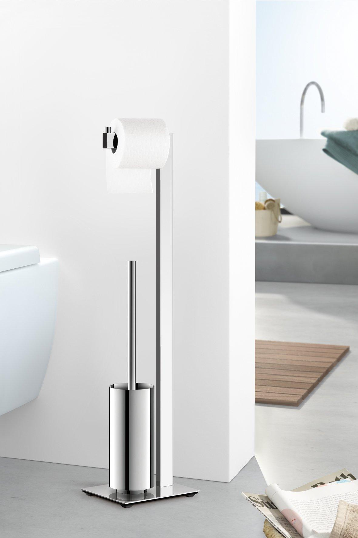 Zack 40027 Linea Toilet Butler Brush, 28.54-Inch, Grey, High Glossy Finish by Zack (Image #3)