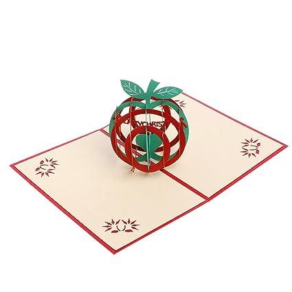 Tarjeta de felicitación 3D de Cucu con corte de papel en ...