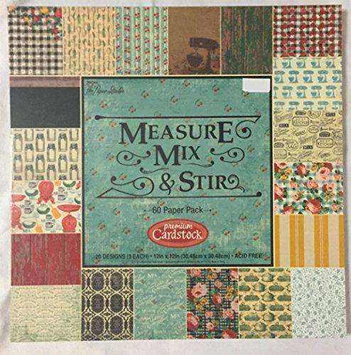 Measure, Mix & Stir 12x12 Premium Cardstock, Scrapbooking Paper Pad