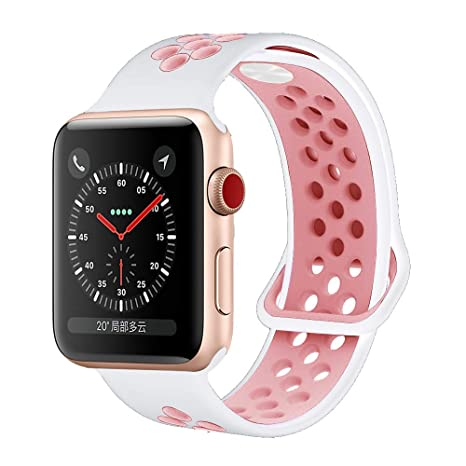 HILIMNY para Correa Apple Watch 38MM, Suave Malla Silicona ...
