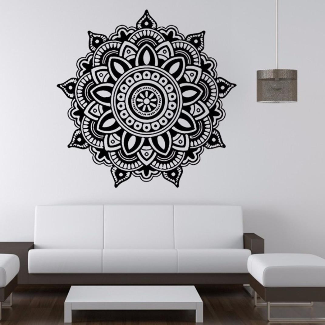 Mandala Blume Wandaufkleber indische Schlafzimmer Wand Aufkleber ...