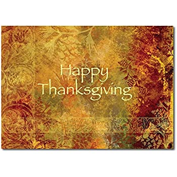 Amazon th8004 thanksgiving greeting card office products thanksgiving greeting card th1003 fall foilage is the backdrop for this happy thanksgving message m4hsunfo Choice Image