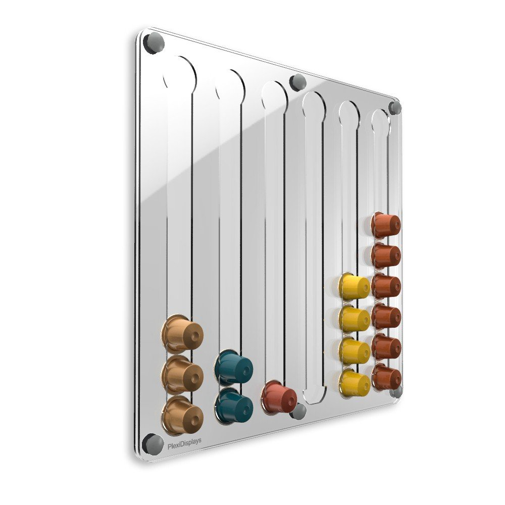 PlexiDisplays 143223 - Dispensador de cápsulas de Nespresso, color transparente: Amazon.es: Hogar