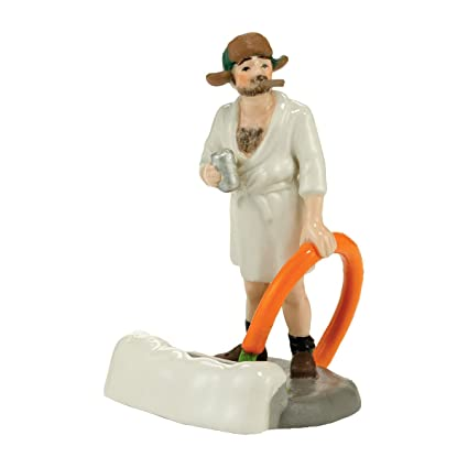 department 56 national lampoon christmas vacation village cousin eddie in the morning accessory figurine