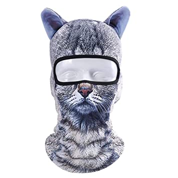 GZQ Balaclava Face Mask 3D Animal Pattern Mesh Breathable Anti-dust Windproof Mask Neck Scarf Unisex for Cycling Camping Running Climbing Skiing Walking Motorcycle Snowboard