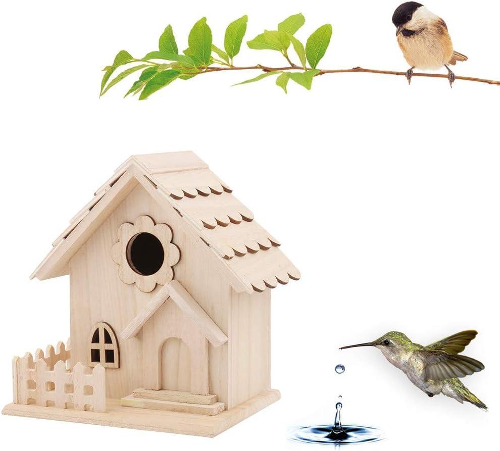 Nichoir ext/érieur cr/éatif Mural en Bois pour ext/érieur Maison en Plein air en Forme de bo/îte pour Les Oiseaux 7Lucky Maison doiseaux