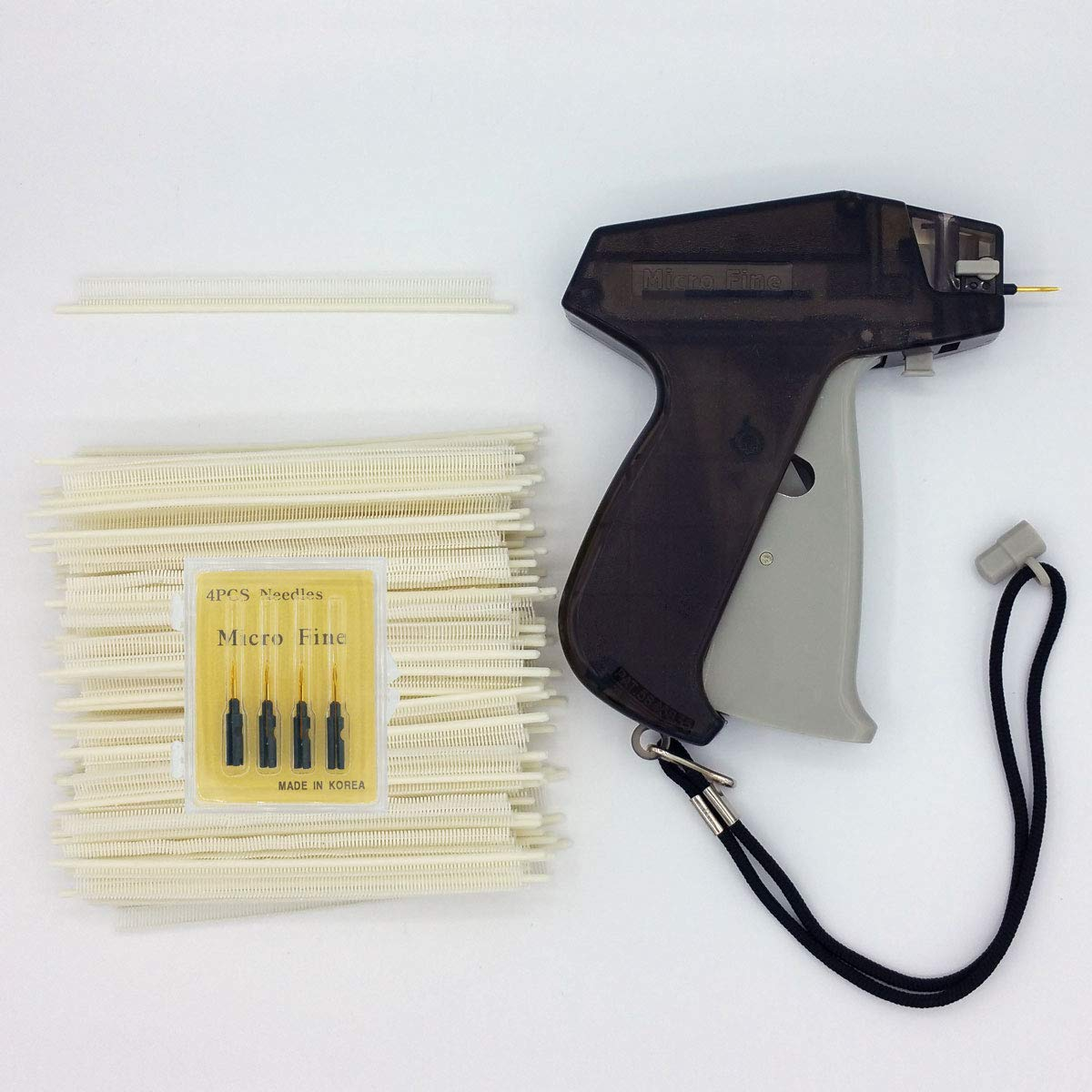 Amram Hawk Micro Fine Tagging Gun Kit for Clothing Includes 10000 11/64 Inch Attachments 5 Needles Easy to Assemble Load and Use by AMRAM