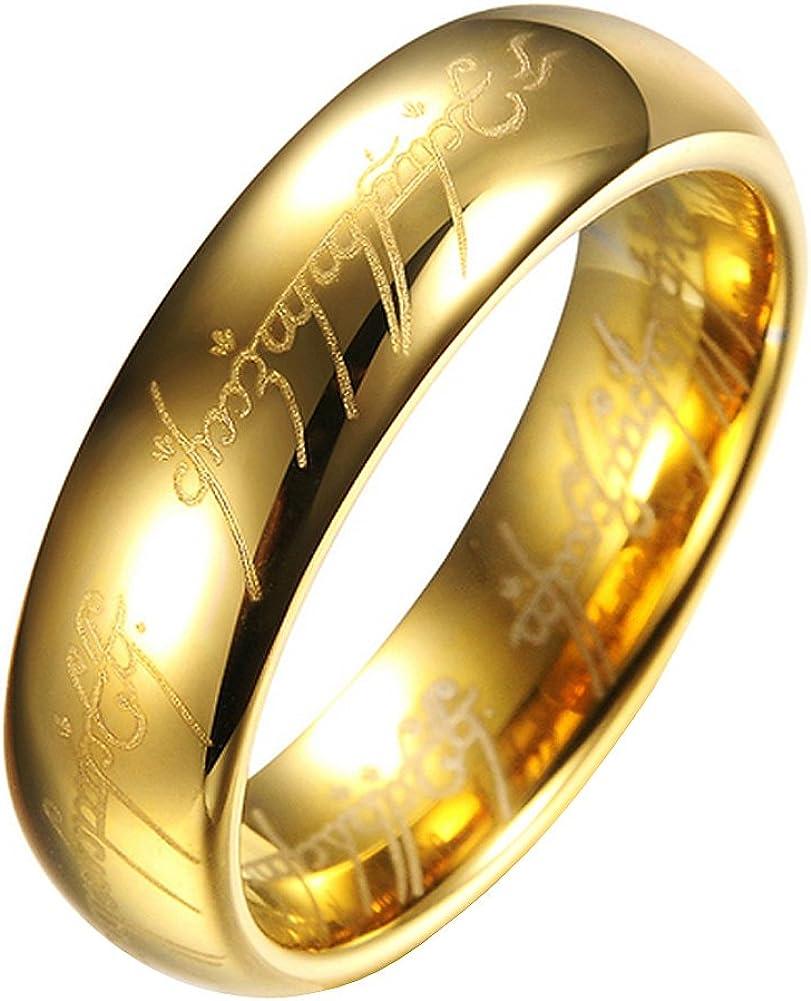 El Senor de los Anillos Lord of the Rings - Anillo unisex de tungsteno - TR9909: Amazon.es: Joyería
