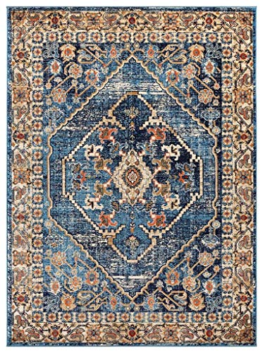 Luxe Weavers Howell Collection Oriental Blue 5x7 Area Rug