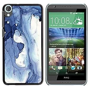 """Pulsar Snap-on Series Teléfono Carcasa Funda Case Caso para HTC Desire 820 , Abstracto azul Invierno Hielo Lago Líquido Agua"""""""