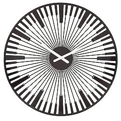 Koziol Piano Wall Clock, 0, Cosmos Black
