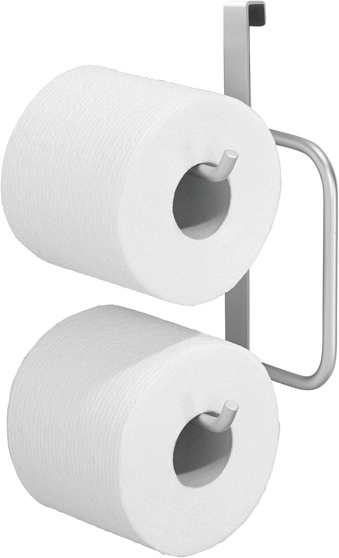 "iDesign Metro Aluminum Over-The-Tank Hanging Toilet Paper, 6.27"" x 4.34"" x 8.45"", Tissue Dispenser: Kitchen & Dining"