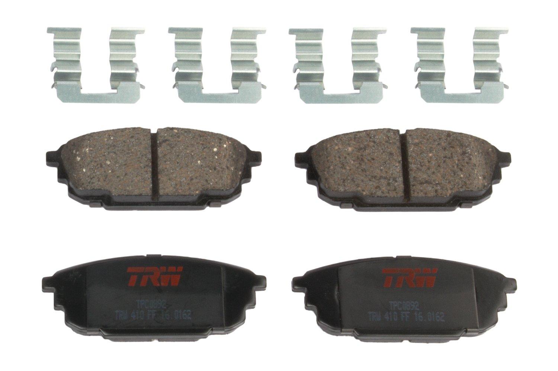 TRW Black TPC0892 Premium Ceramic Rear Disc Brake Pad Set TRW Automotive