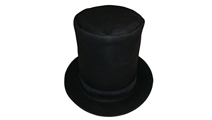 ffd395a82f6 Sharpshooter Tall Leather Abraham Lincoln Stovepipe High Top Hat at ...