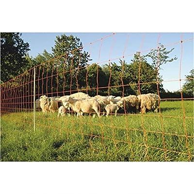 Göbel Clôture électrique d'alimentation Euro Extra Jumbo 50m Long 106cm de haut 14piquets double pointe avec broutage des animaux sauvages