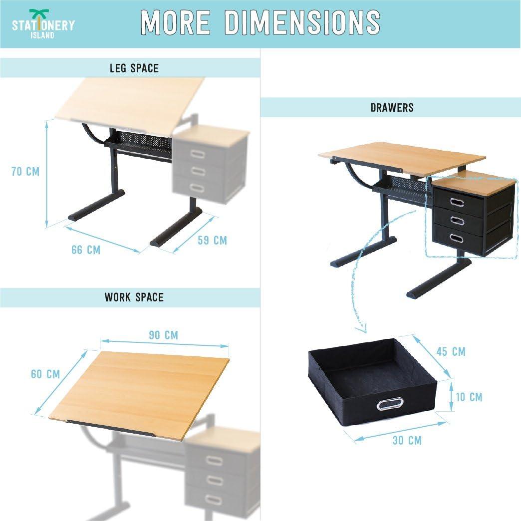 Stationery Island Caye Mesa de Dibujo para Arte y Diseño – Mesa ...