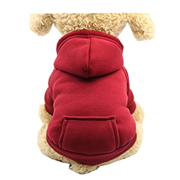 Morbuy Ropa de Perros Gatos, Chaqueta Abrigo Cálido Suéter de Algodón de Invierno Otoño Suave para Perros Pequeños Disfraces Gatos Cachorros Mascotas ...