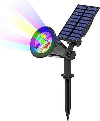 T-SUN 7LED Foco Solar, Impermeable Luces Solares Exterior de 7 ...