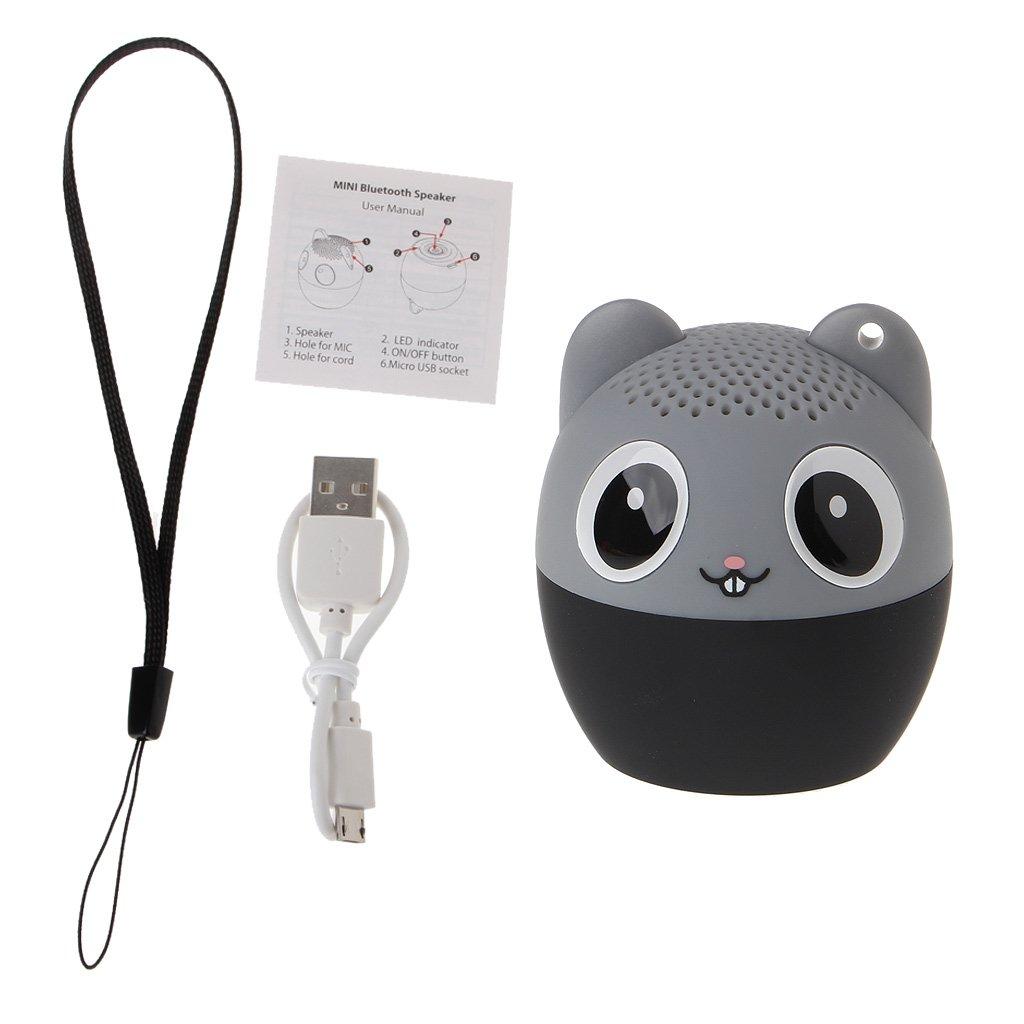 Rawuin Cute Mini Portable Animal Bluetooth Wireless Speaker Audio Player Remote Selfie for Phone Tablet PC (Dog)