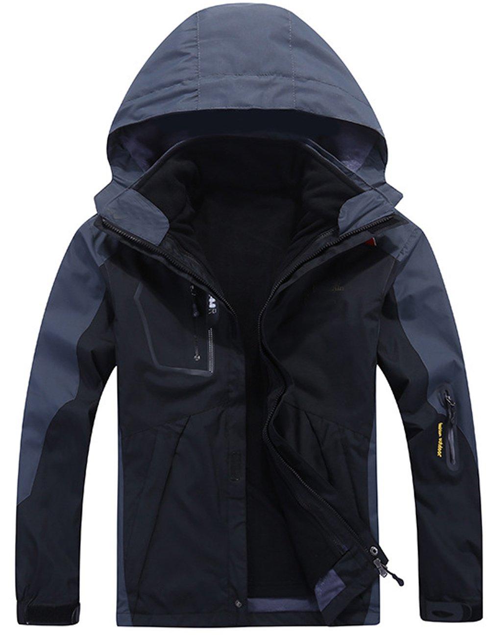 Menschwear OUTERWEAR メンズ B077BY58Y4 3L|Black W1201 Black W1201 3L