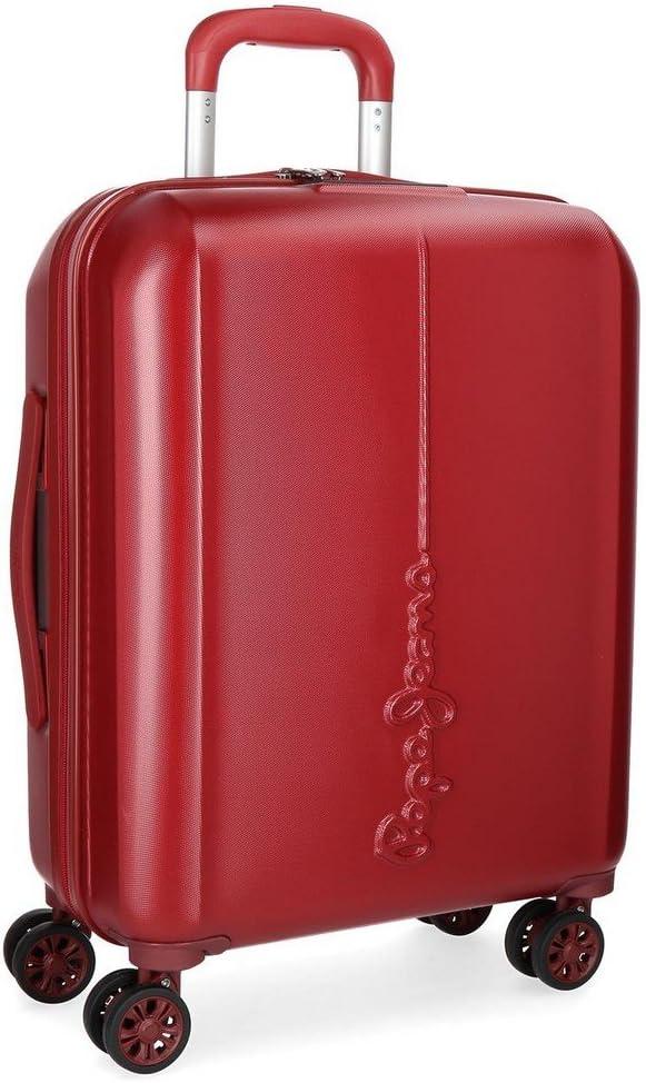 Maleta de cabina Pepe Jeans Cambridge Roja rígida 55cm