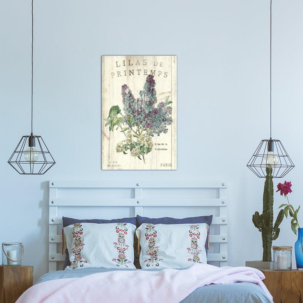 60 x 40//1.5 Deep iCanvasART 3 Piece Lilas de Printemps Canvas Print by Sue Schlabach