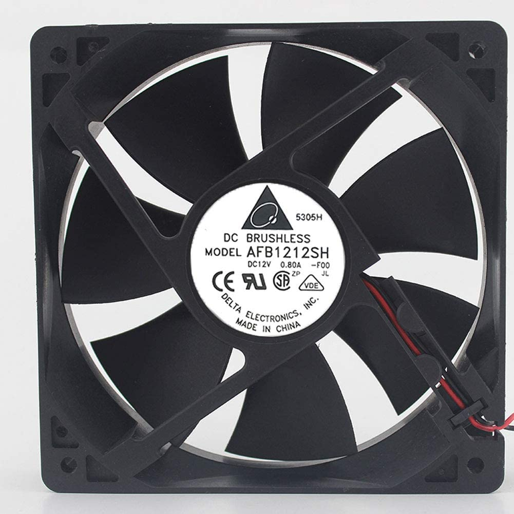 Cooling Cooler Fan for Delta AFB1212SH 1225 12025 12cm 12V 0.80A 12012025mm 3400RPM 2Pin 2 Wire CPU Power Supply