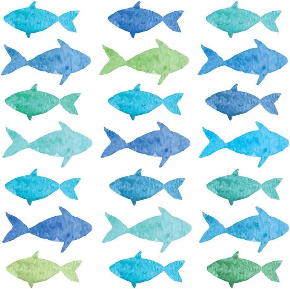Paperproducts Design 1252800 Beverage Napkin, Aquarell Fish