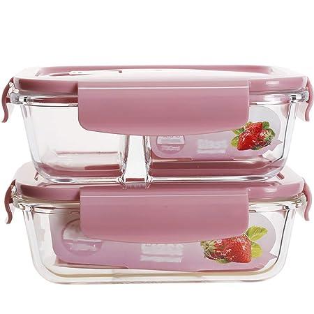 Olla de cocina, – Tartera de cristal con tapa, caja de microondas ...
