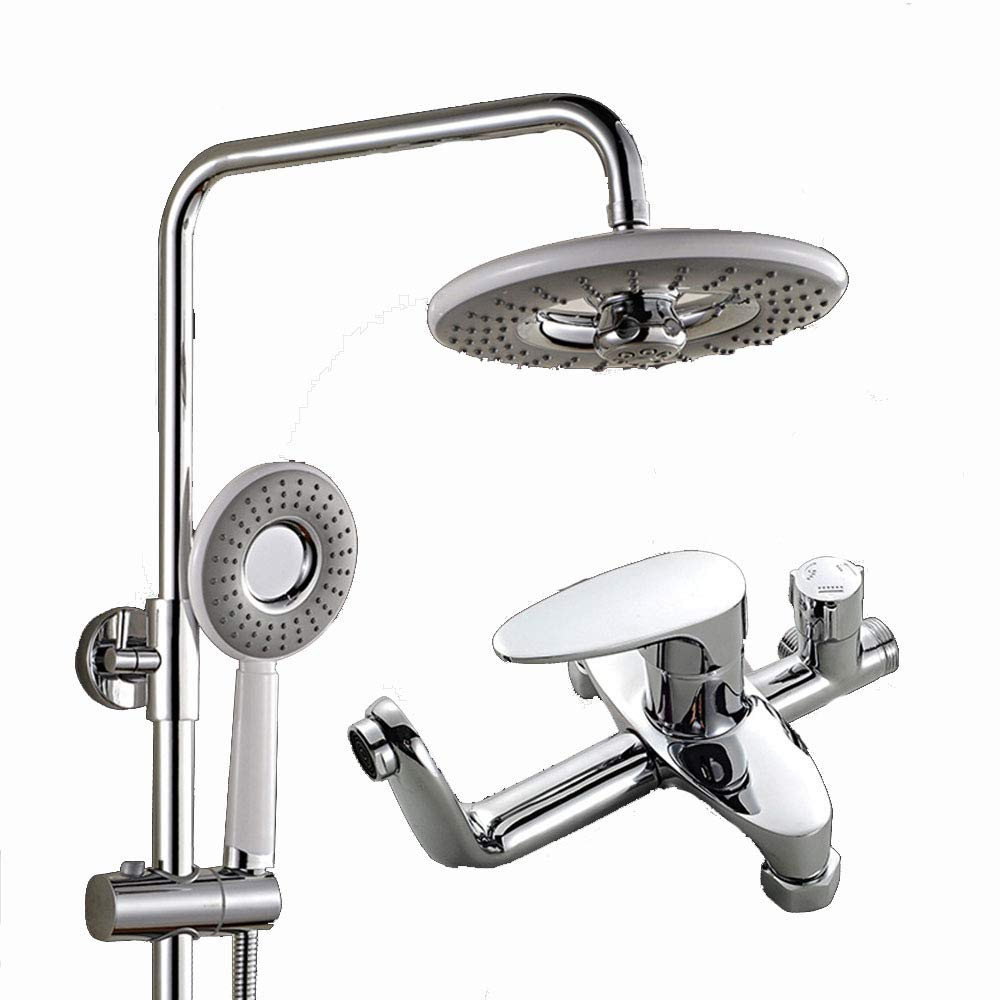Oofay Shower Set,Thermostatic Sower Sstem, Rund Sower Had, Bass Had, Bthtub Faucet, Chrome