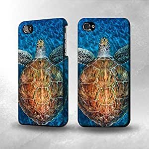 Apple iPhone 5 / 5S Case - The Best 3D Full Wrap iPhone Case - Blue Sea Turtle