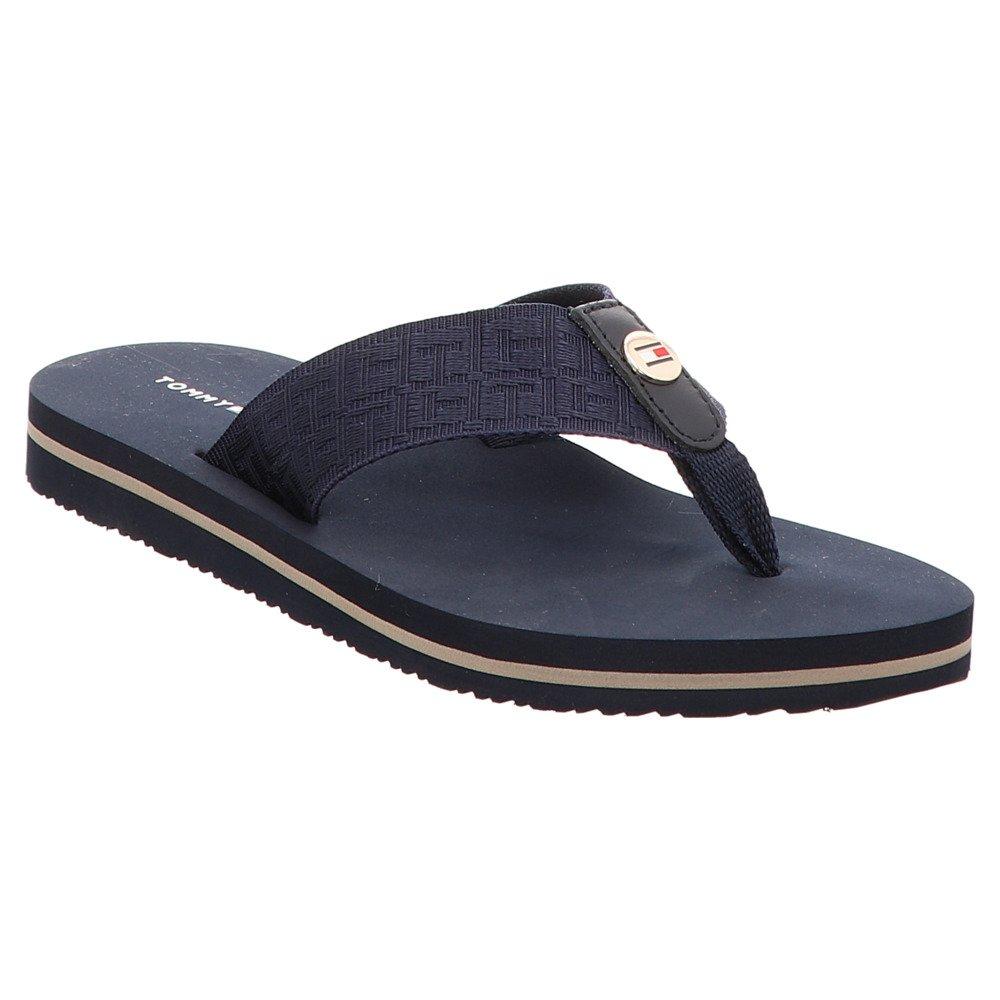 Tommy Hilfiger Comfort Niedrig Niedrig Comfort Beach Damen Sandalen Blau Blau 4de6d5