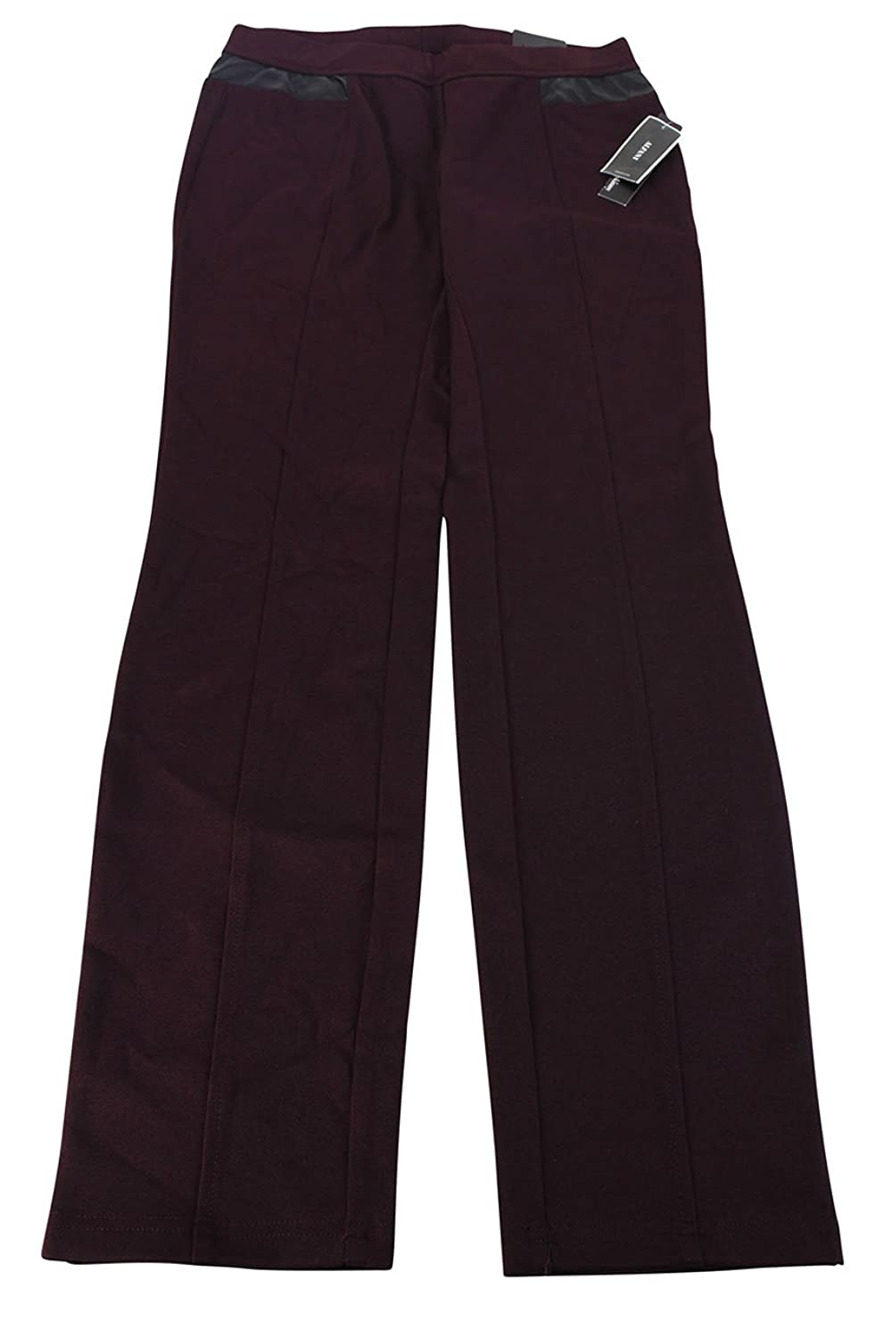 Alfani Womens Slim Fit Pants - Red Rayon