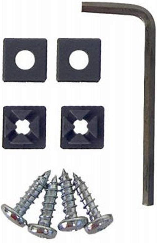 sourcingmap/® 8 Pcs Car Auto Aluminum License Plate Bolt Screws Black