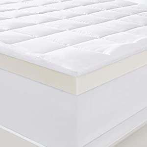 "Serta 4"" Pillow-Top and Memory Foam Mattress Topper - Queen"
