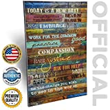 Inspirational Quotes Wall Art - Today Is a New Day 12 x 18 Inch Wood Wall Art Panel by Marla Rae