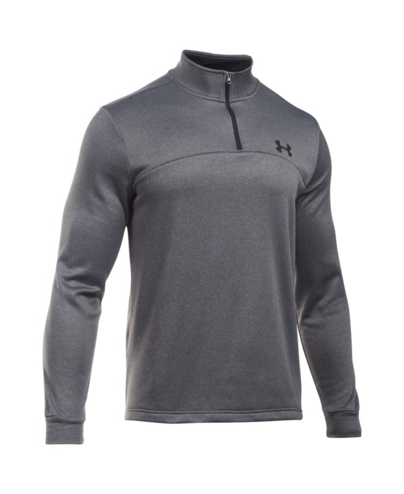 Under Armour Men's Storm Armour Fleece 1/4 Zip, Carbon Heather (090)/Black, Small by Under Armour (Image #4)