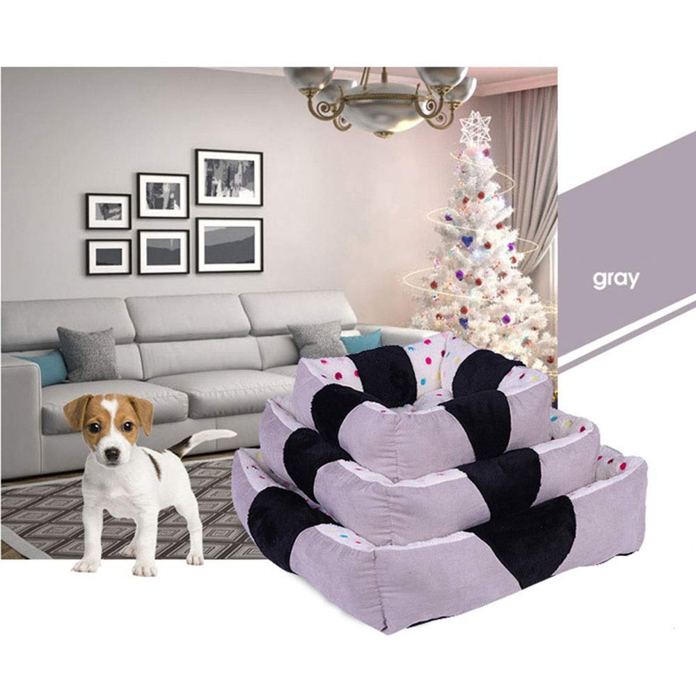 Hexiaoyi Warm Kennel Cat Mat Pet Sofa Bed (Color : Gray, Size : S) by Hexiaoyi