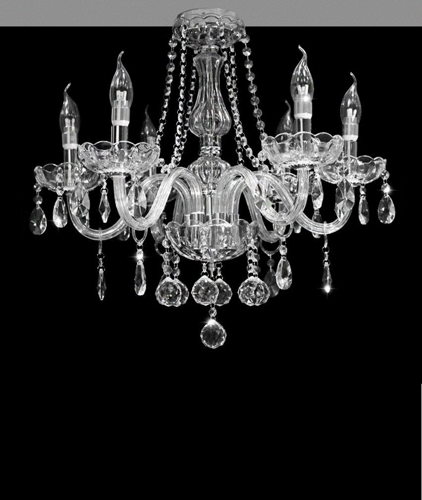 Dst Marie Therese 6 Arme Kronleuchter, Klar Kristall und Glas Deckenleuchte Kronleuchter D 58cm H 53CM