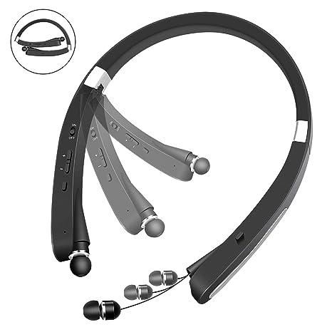 c3b5dc98840 YOOSUN Bluetooth Headphones, Wireless Retractable Foldable Neckband 30Hours  Playtime V4.1 (KKY-