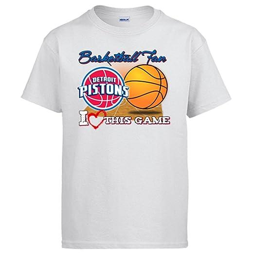 Camiseta NBA Detroit Pistons Baloncesto Basketball fan I Love This Game: Amazon.es: Ropa y accesorios