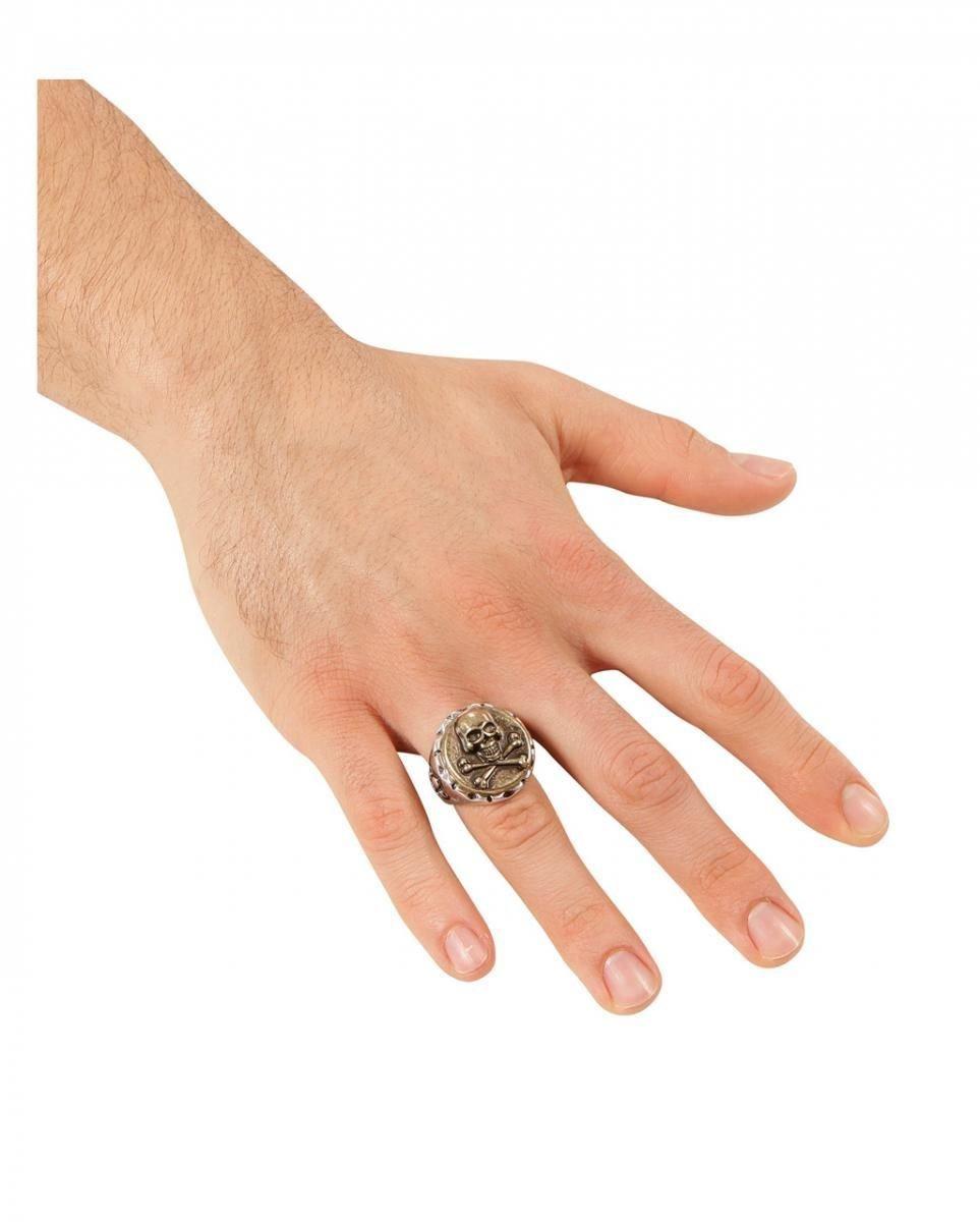Piraten Totenkopf Finger Ring Gothic Faschingskostüm Zubehör Schmuck Karneval