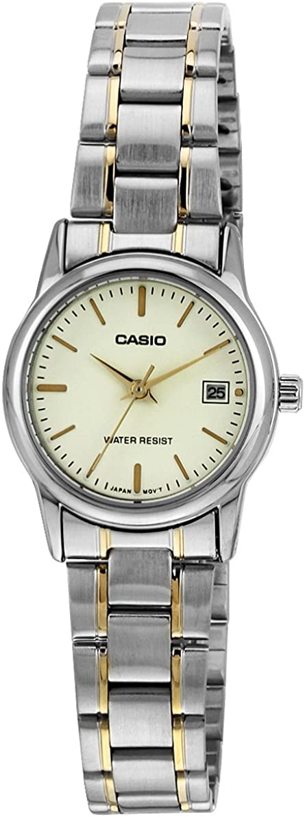Casio Women s LTPV002SG-9A Silver Stainless-Steel Quartz Watch