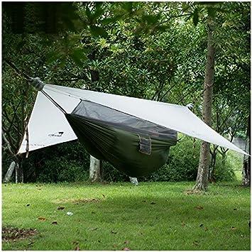 NatureHike 1 person Hammock With Bed Net C&ing Hanging Tent Waterproof Awning (Grey) & NatureHike 1 person Hammock With Bed Net Camping Hanging Tent ...